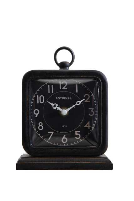 Pewter Table Clock, Black - Nomad Home