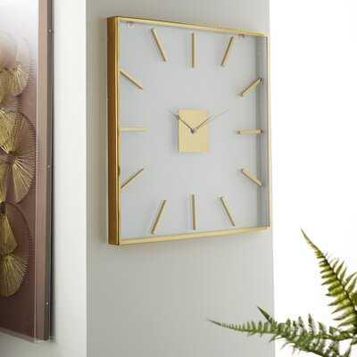"Oversized Sahar 30.12"" Wall Clock - Wayfair"