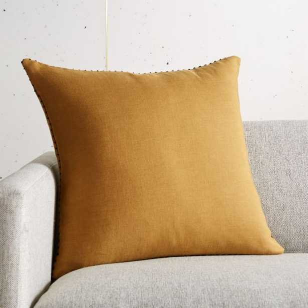 "18"" Lumiar Dijon Pillow with Feather-Down Insert - CB2"