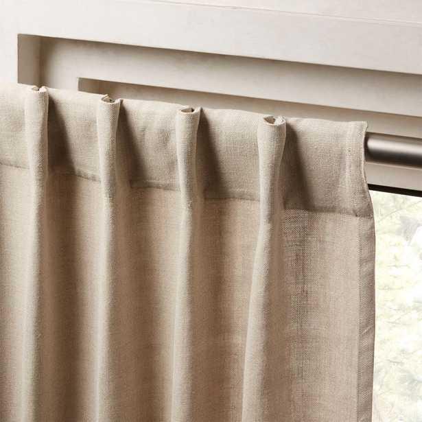 """Heavyweight Natural Linen Curtain Panel 48""""x108"""" - CB2"""