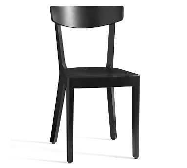 Prag Dining Chair, Black - Pottery Barn