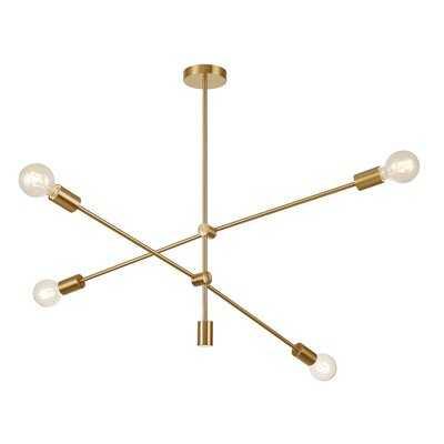 4 - Light Sputnik Modern Linear Chandelier - Wayfair