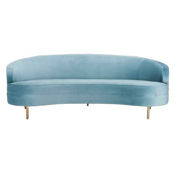 Primrose Curved Sofa Upholstery Color: Light Blue - Perigold