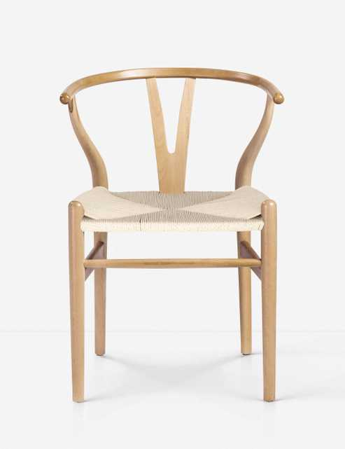 Cylia Dining Chair, Natural (Set of 2) - Lulu and Georgia