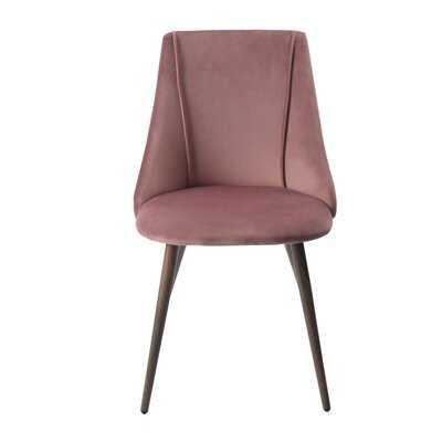 Callis Velvet Upholstered Solid Wood Side Dining Chair in Rose - Wayfair