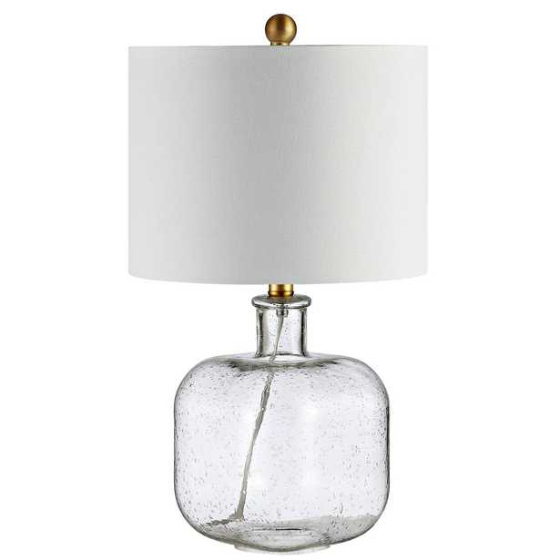 Safavieh Armena 21.5 in. Clear/Brass Gold Table Lamp - Home Depot