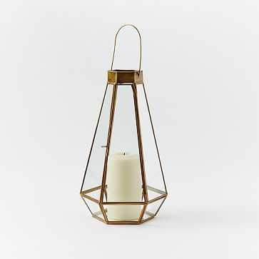 Faceted Lantern, Medium, Set of 2 - West Elm