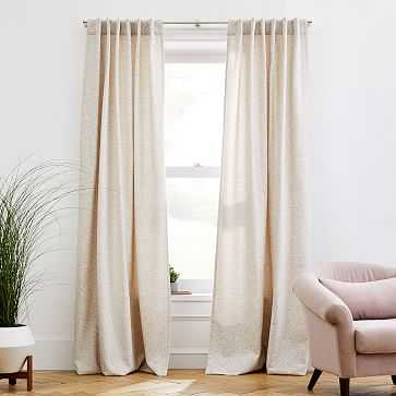 "Dash Jacquard Curtain, Birch, 48""x96"" - West Elm"