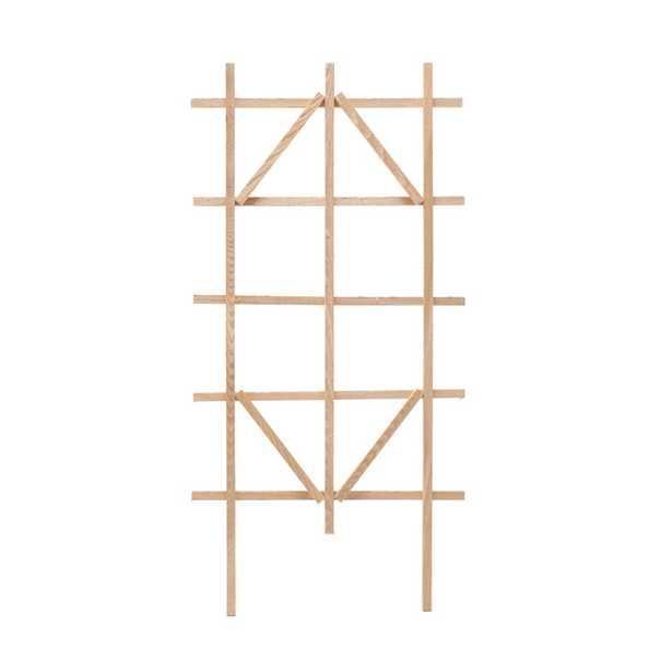 Outdoor Essentials 48 in. Cedar Ladder Trellis, Browns / Tans - Home Depot
