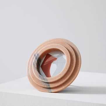 """Stacked Marble Frame, Circle, 4""""x4"""""""", Pink - West Elm"""