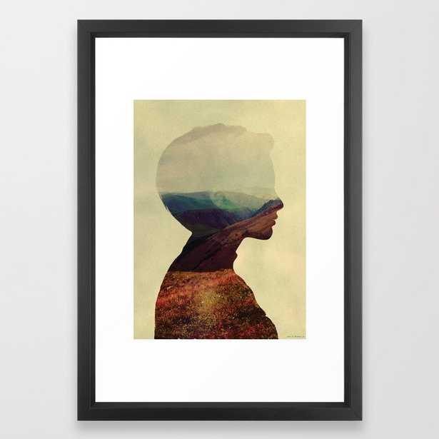 Daydream Framed Art Print by Andreas Lie - Vector Black - SMALL-15x21 - Society6