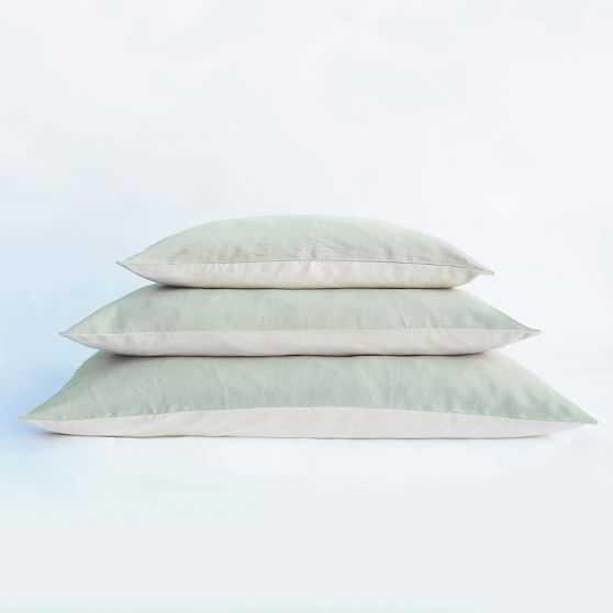 Dog Bed Sage Linen Canvas, Large - West Elm