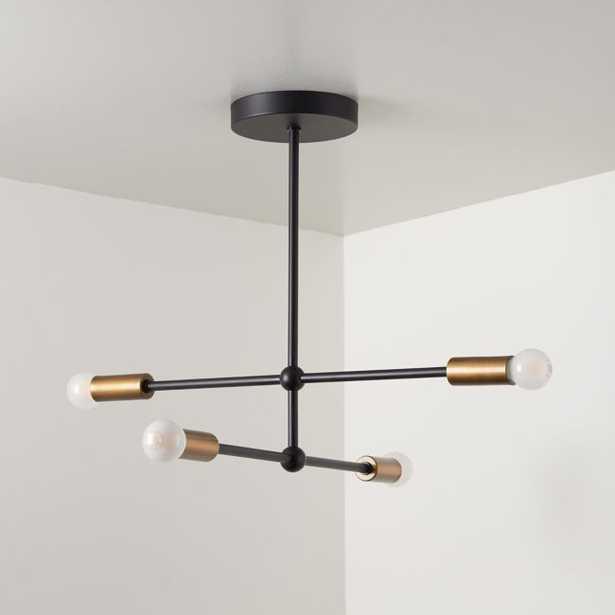 Sputnik Black Flush Mount Ceiling Light - Crate and Barrel