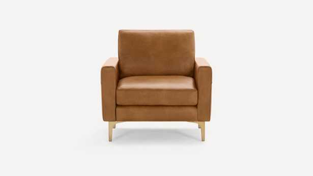 The Block Nomad Leather Armchair in Camel - Burrow