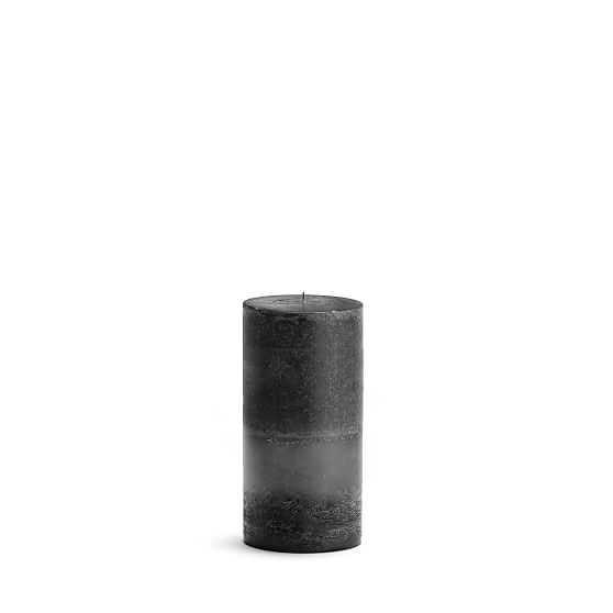 "Pillar Candle, Wax, Black Bamboo, 3""x6"" - West Elm"
