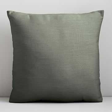 """Sunbrella Indoor/Outdoor Cast Pillow, Set of 2, 20""""x20"""", Sage - West Elm"""