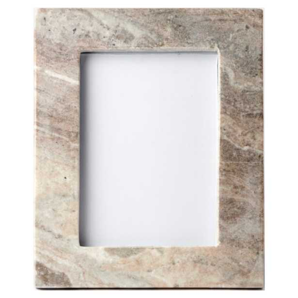 Bea Modern Classic Brown Marble Photo Frame - 5x7 - Kathy Kuo Home
