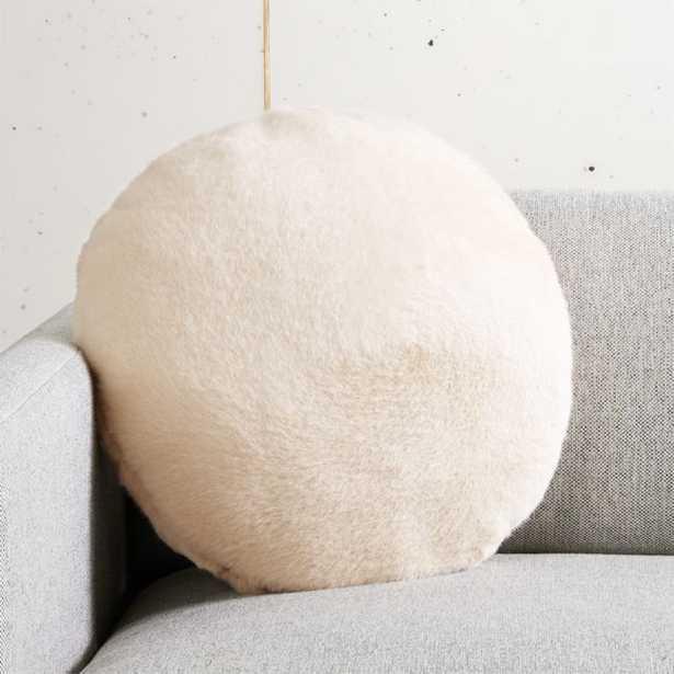 Harlee Ivory Round Pillow - CB2