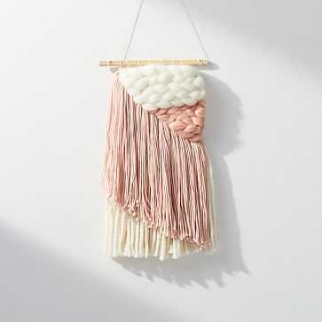 Sunwoven Wall Hanging, Small, Pink - West Elm