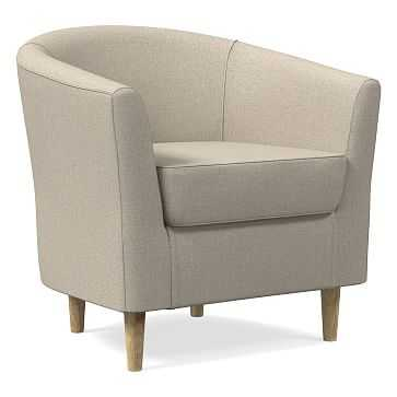 Mila Chair, Poly, Heathered Crosshatch, Natural, Soft Wheat - West Elm