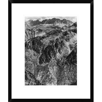'North Palisades from Windy Point, Kings River Canyon, Proposed as a National Park, California, 1936' by Ansel Adams Framed Photographic Print - Wayfair