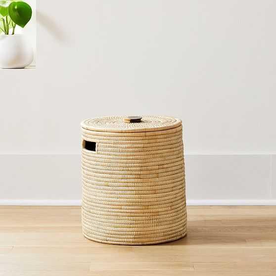 Wooden Handle Hamper Small - West Elm