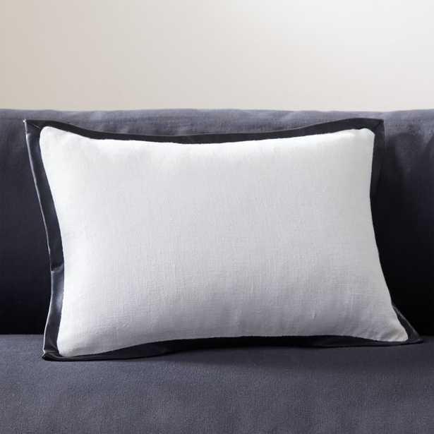 "18''x12"" Tuxedo Pillow with Down-Alternative Insert - CB2"
