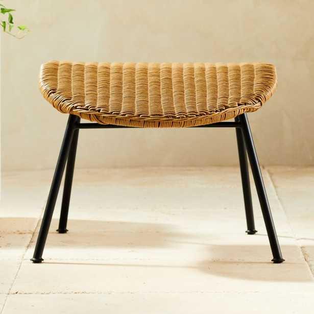 Outdoor Basket Ottoman - CB2