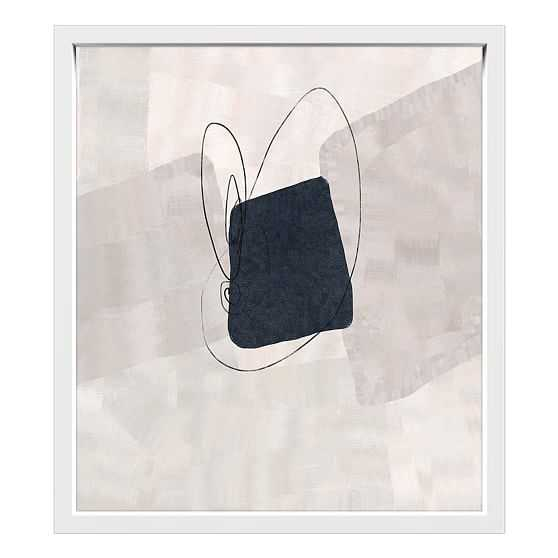 Minimal II Floater Framed Canvas Painting Blue Small - West Elm