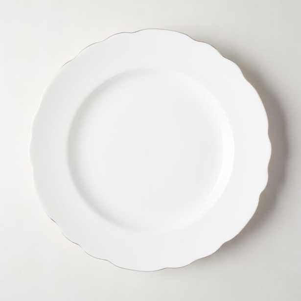 Chelsea White Dinner Plate - CB2