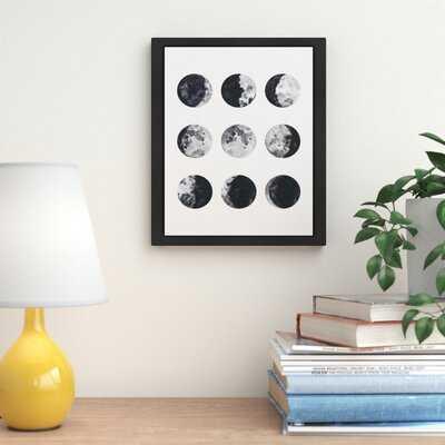 Moon Phases Watercolor I Framed Graphic Art - AllModern