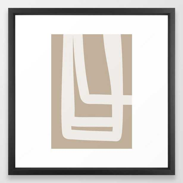 Neutral Abstract 5a Framed Art Print by The Old Art Studio - Vector Black - MEDIUM (Gallery)-22x22 - Society6