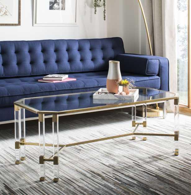 Chandon Acrylic Coffee Table - Bronze - Arlo Home - Arlo Home