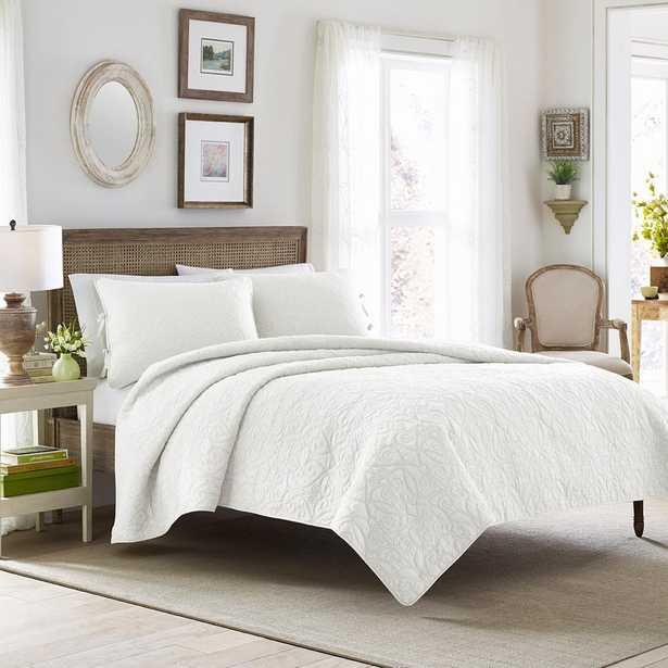 Felicity 3-Piece White King Quilt Set - Home Depot