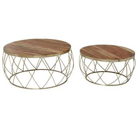 Epperly Solid Wood Drum Nesting Tables - Wayfair