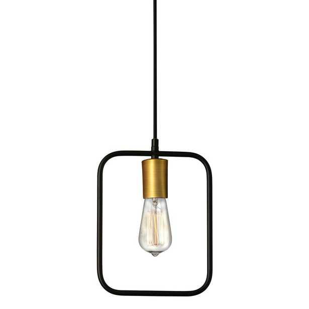 Dainolite Geometric 1 Light Matte Black Pendant with No Shade - Home Depot