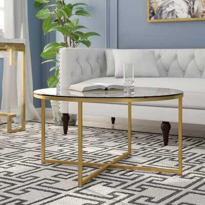 Wasser Cross Legs Coffee Table - Wayfair