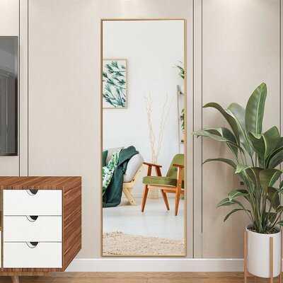 59''Full Length Mirror Large Rectangle Bedroom Mirror,Golden - Wayfair
