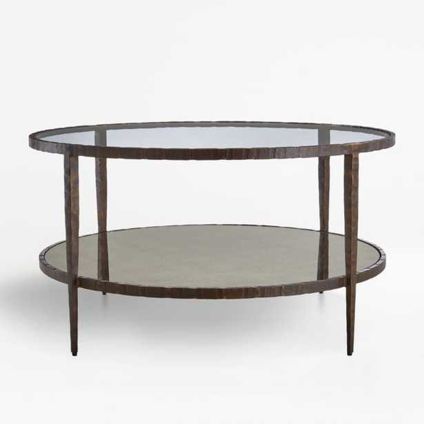 Clairemont Round Art Deco Coffee Table - Crate and Barrel