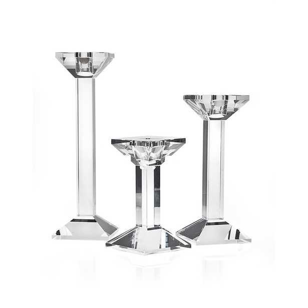 """Ricci Argentieri 3 Piece Crystal Tabletop Candlestick Set"" - Perigold"