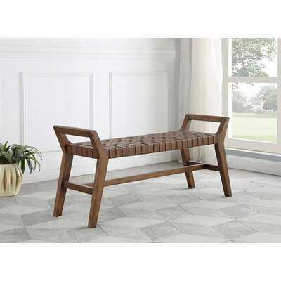Galles Solid Wood Bench - Wayfair