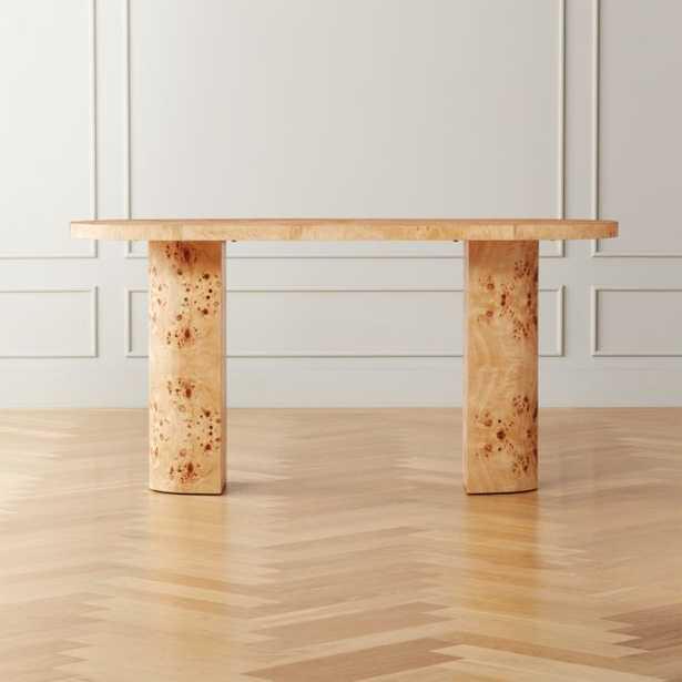 Marisa Burl Wood Desk - CB2