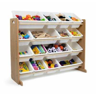 Combs Toy Organizer, Natural/White - Wayfair