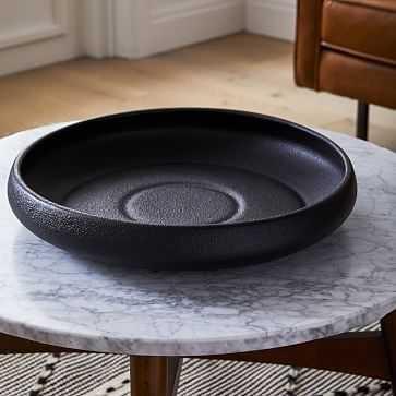 Ceramic Bowl, Black, Large - West Elm