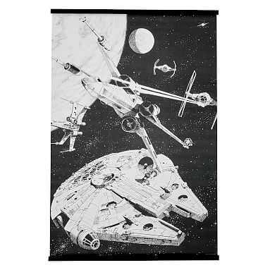Stars Wars(TM) A New Hope Galactic Battles Wall Mural, 36 x 48 - Pottery Barn Teen