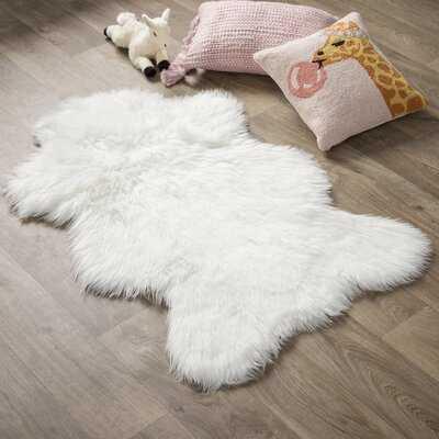 Ahamed Polar Bear Pelt White Area Rug - Wayfair