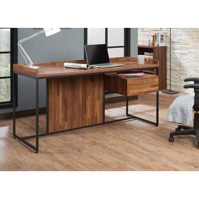 Union Rustic Sara Desk, Walnut & Sandy Black - Wayfair