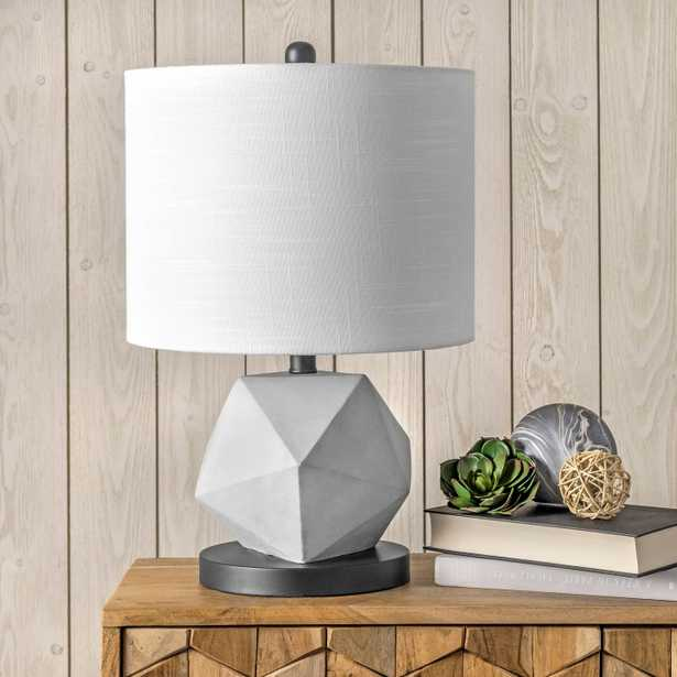 """Clairton 20"""" Cement Table Lamp - Loom 23"""