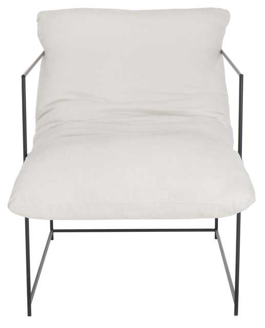 Portland Pillow Top Accent Chair - Ivory/Black - Arlo Home - Arlo Home