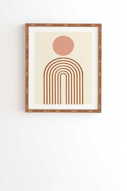 "Full Moon Rainbow by Grace - Framed Wall Art Bamboo 30"" x 30"" - Wander Print Co."